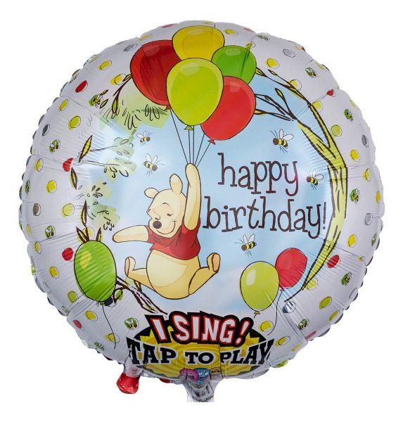Musikballon Happy Birthday singender Winnie Puuh 71cm