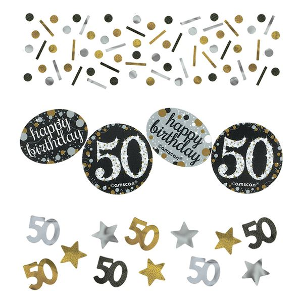 Sparkling Celebration Silber & Gold 50. Geburtstag Konfetti 34g