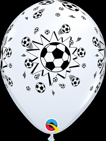 Qualatex Latexballon Fußball Schwarz-Weiß Ø 30cm