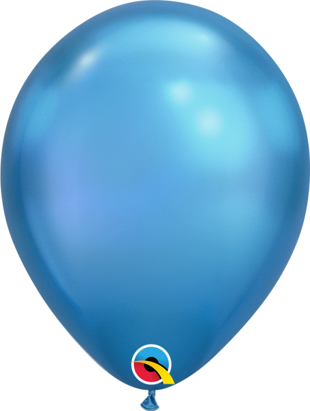 Qualatex Latexballon Chrome Blue 30cm