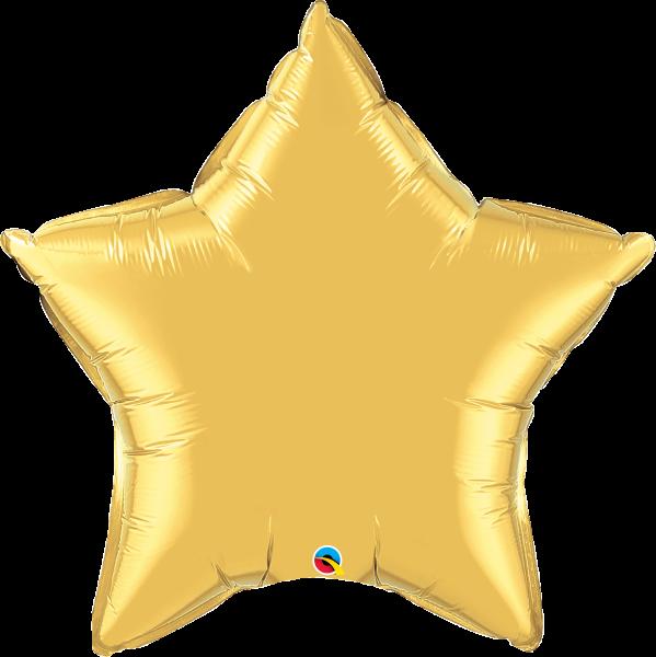 Folienballon Stern Gold 90 cm