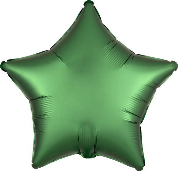 Folienballon Stern Satin Smaragd Grün 45cm