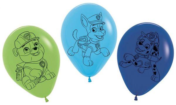 Paw Patrol - 5 Latexballons Blau