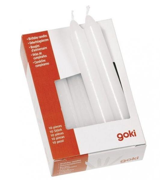 Goki - Geburtstagskerzen Set - Weiß