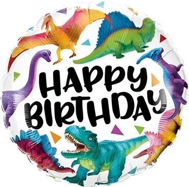 "Folienballon Happy Birhtday ""Dinosaurier"" 46cm"