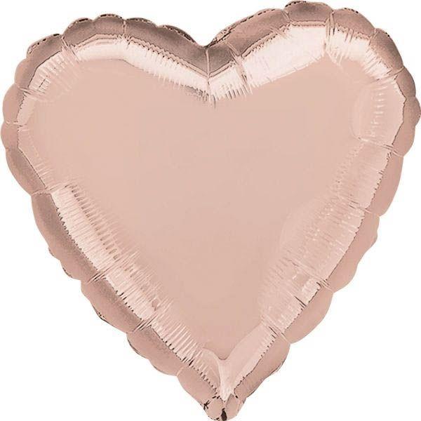 Folienballon Herz Rosé Gold 43cm