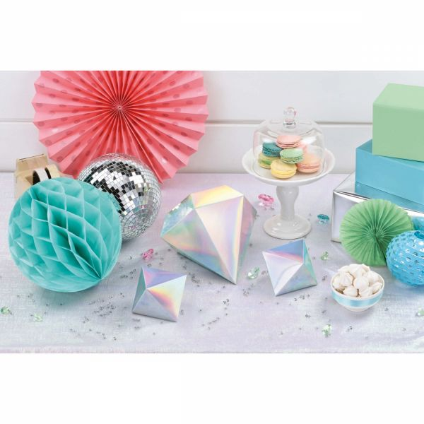 Shimmering Party - 3 Tischdeko-Diamanten 3D