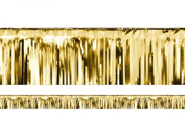 Kurzer Dekovorhang Gold