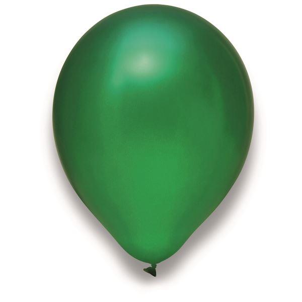 Latexballon Metallic Grün 100 Stück Ø 30cm
