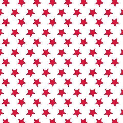 20 Servietten mit roten Sternen