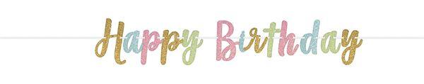Konfetti Fun - Glitzer Geburtstags-Girlande