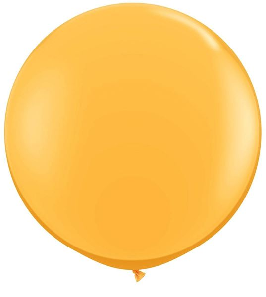 Qualatex Riesenballon Goldgelb 90cm