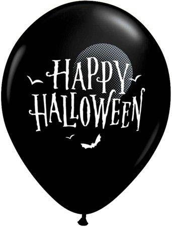 Qualatex Ballon Halloween Fledermäuse Schwarz Ø 30cm