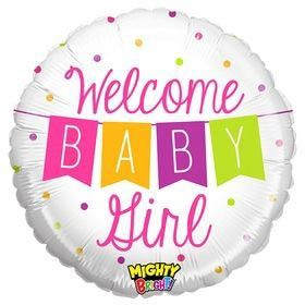 Folienballon Welcome Baby Girl Girlande 45cm
