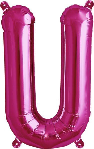 Luftballon Buchstabe U Pink 40cm