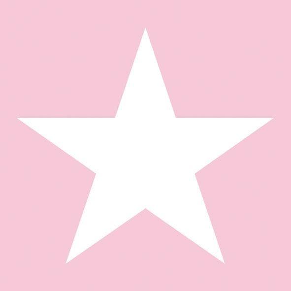 20 Servietten Stern Rosa