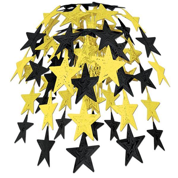 Sternen Hängedekoration Schwarz & Gold