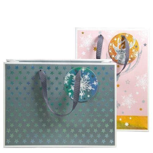 2 Elegante Weihnachts-Geschenktaschen