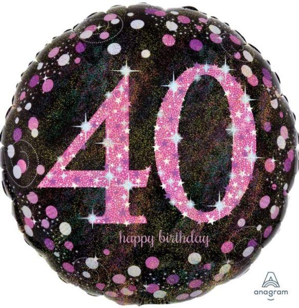 """Folienballon Pink Celebration """"40"""" 43cm"""