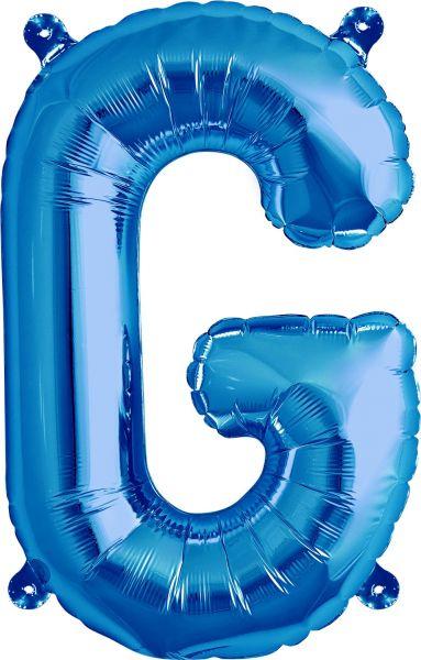 Luftballon Buchstabe G Blau 40cm
