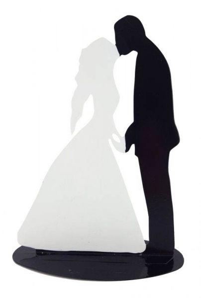 Metallständer Brautpaar Küssend