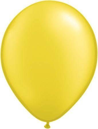 Qualatex Latexballon Pearl Citrine Yellow Ø 30cm