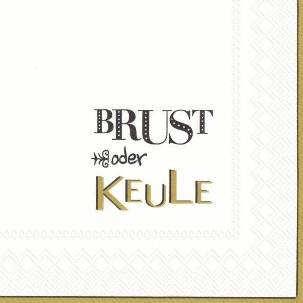 Brust oder Keule Gold - 20 Servietten