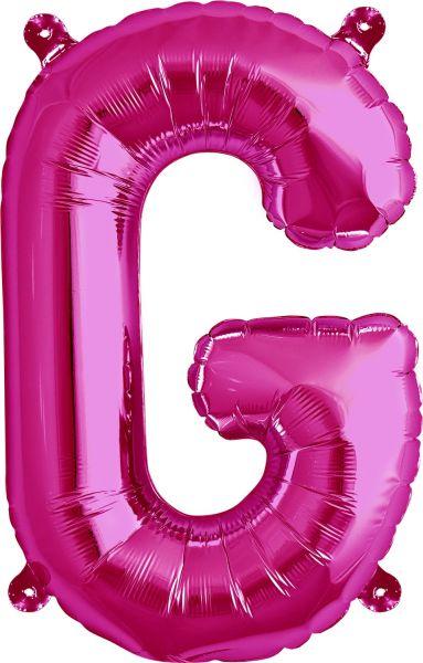 Luftballon Buchstabe G Pink 40cm