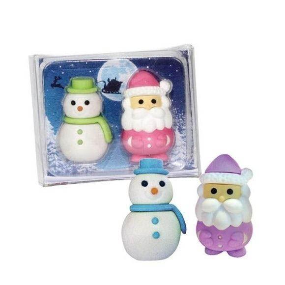 Radiergummi Santa & Olaf