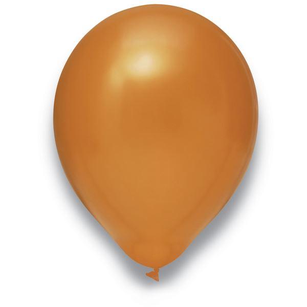 Latexballon Metallic Kupfer 50 Stück Ø 30cm