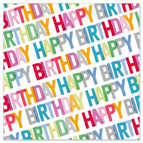 20 Geburtstags-Servietten - HappyBirthday - Bunt