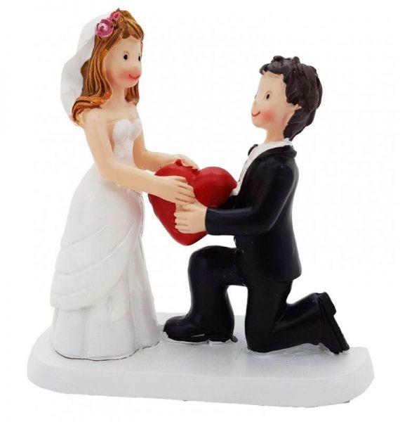 Aufsteller Brautpaar mit Herz klein