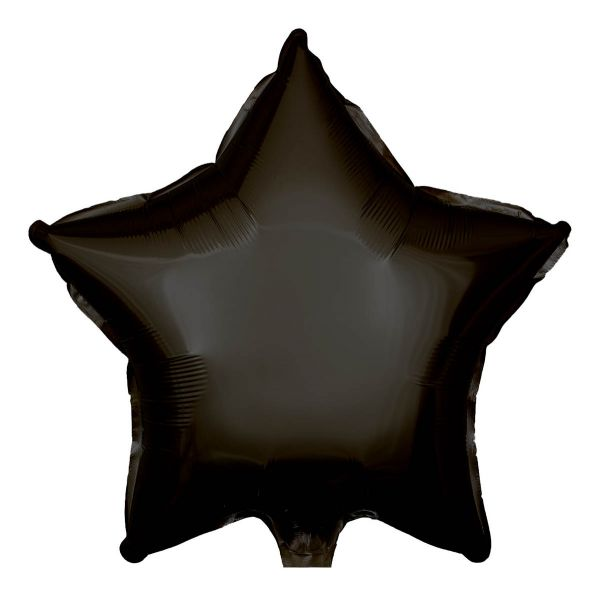 Folienballon Stern Schwarz 45cm
