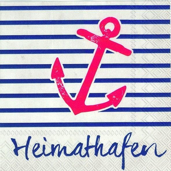 Heimathafen 20 maritime servietten heimathafen hamburg for Partydeko hamburg
