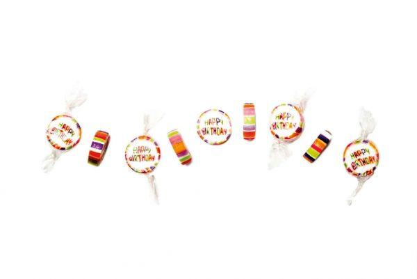 Handgemachte Happy Birthday Bonbons