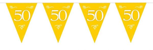 Wimpelkette 50 Goldene Hochzeit
