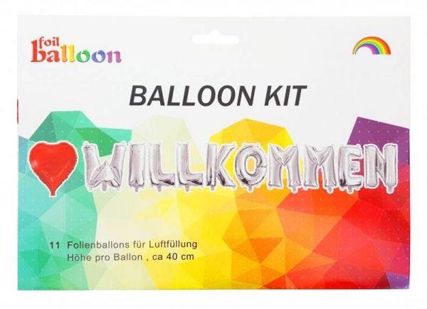 Folienballon-Girlande Herzlich Willkommen