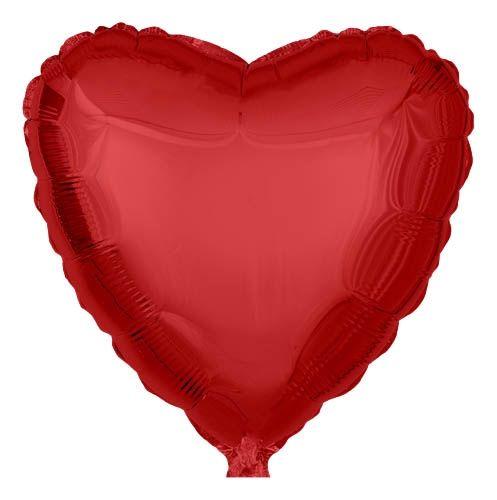 Folienballon Herz Rot 45cm