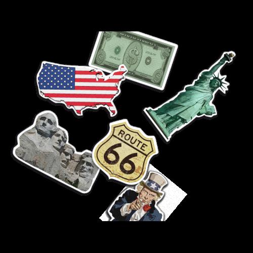 Amerika - XXL Konfetti