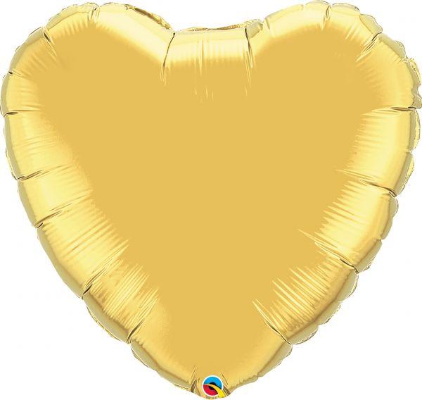 Folienballon Herz Gold 90 cm