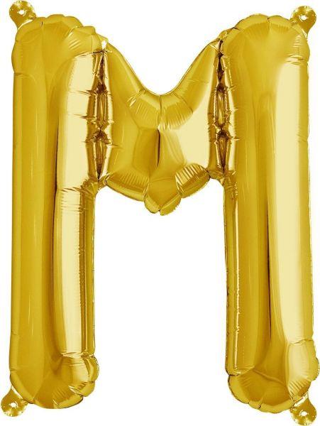 Luftballon Buchstabe M Gold 40cm