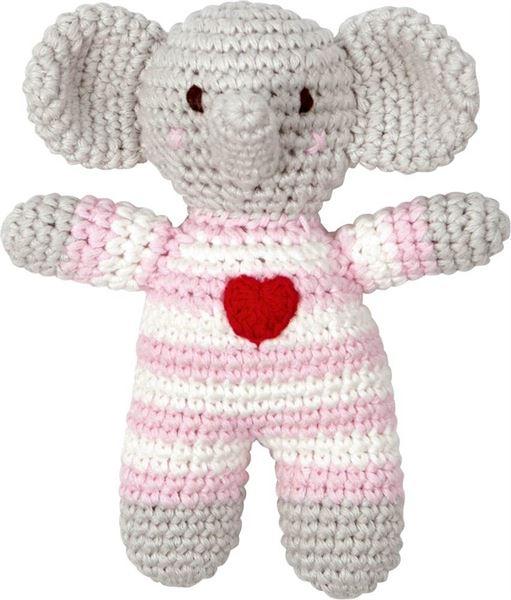 Häkel-Rassel Elefant Rosa