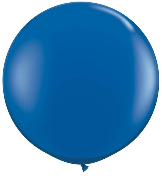 Qualatex Riesenballon Saphirblau 90cm