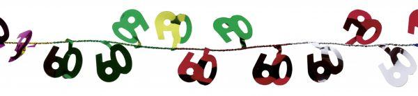 Bunte Draht-Girlande 60 Geburtstag