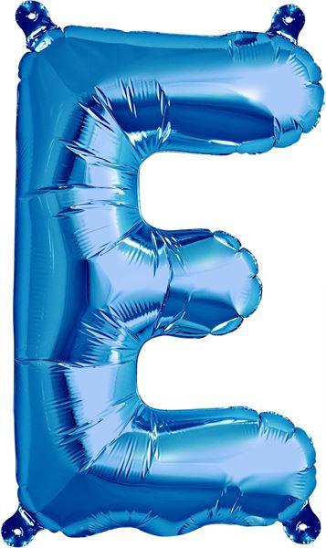 Luftballon Buchstabe E Blau 40 cm