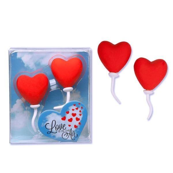 Love is in the Air - Herzballon Radierer-Set