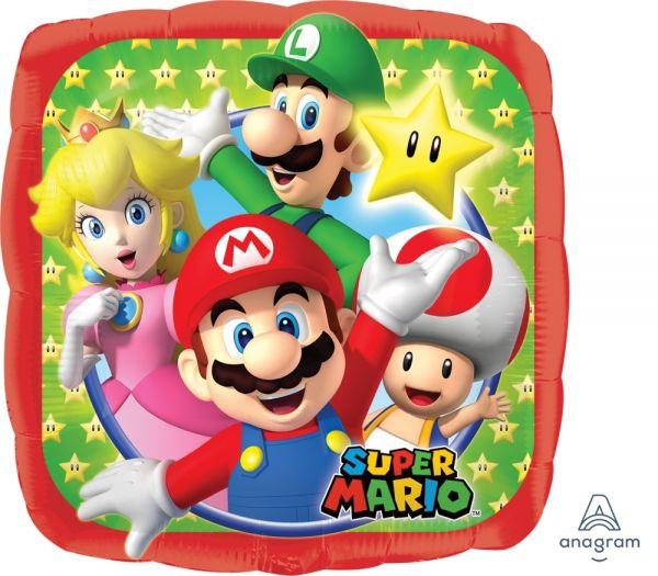 Folienballon Super Mario Bros. 45cm