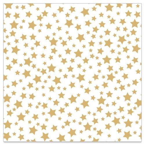 20 Servietten mit goldenen Sternen