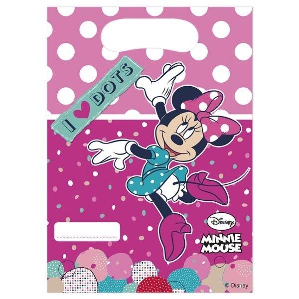Minnie I love Dots - 6 Mitgebsel-Tütchen