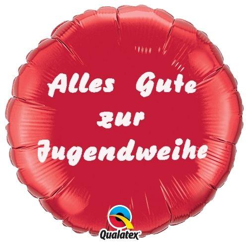 Folienballon Alles Gute zur Jugendweihe Rot 45cm